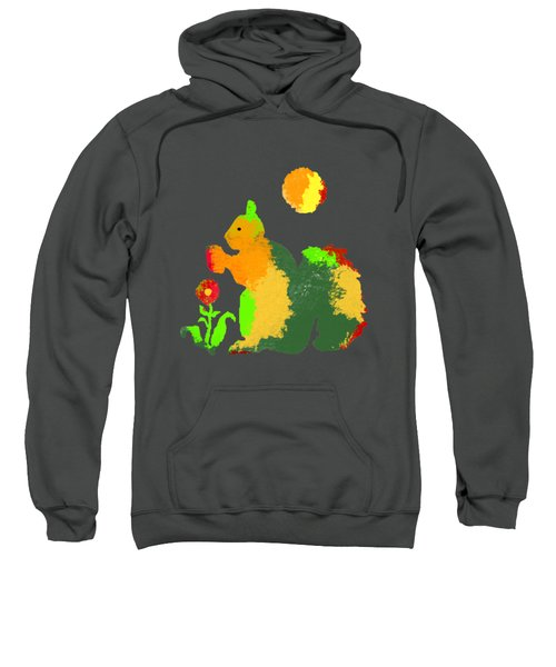 Colorful Squirrel 1 Sweatshirt by Holly McGee