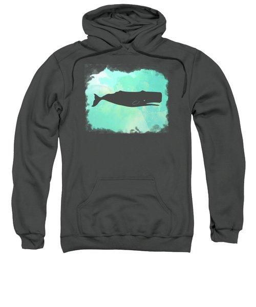 Colorful Watercolor Sperm Whale Sea Life Coastal Art Sweatshirt