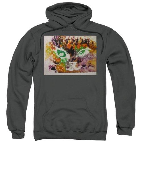 Colourful Cat Face Sweatshirt