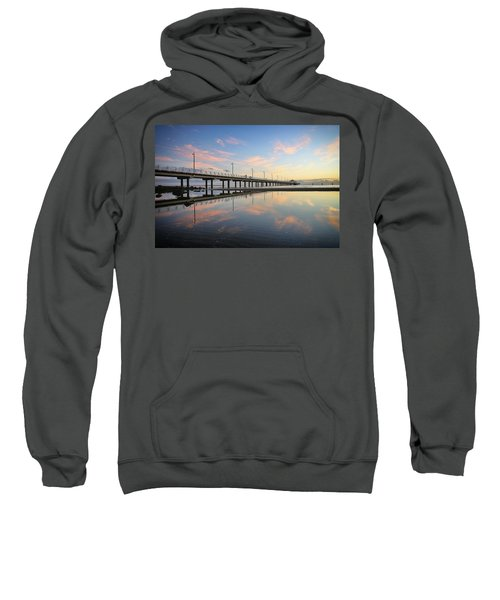 Colourful Cloud Reflections At The Pier Sweatshirt