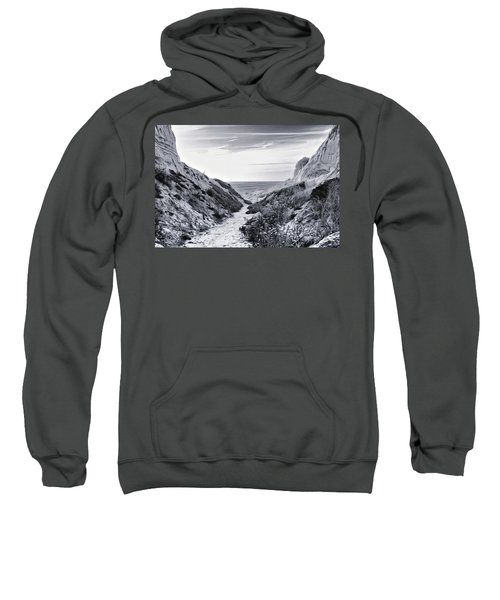 Sweatshirt featuring the photograph Coming Through by Alison Frank