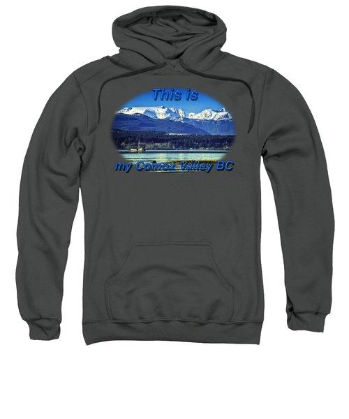 Comox Glacier And Herring Boat Sweatshirt
