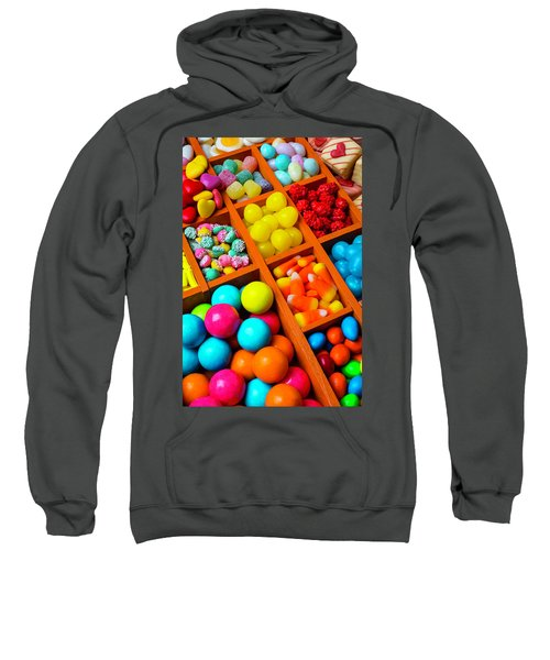 Compartments Of Yummy Candy Sweatshirt
