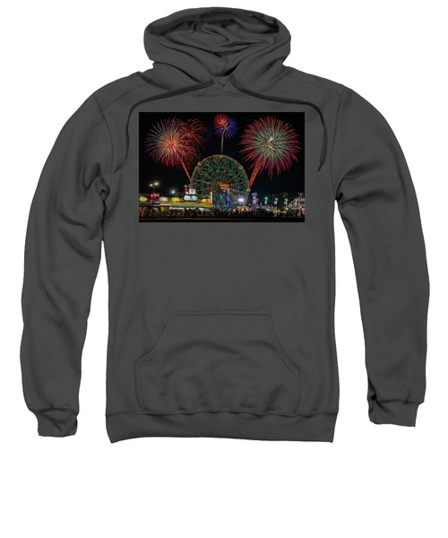 Coney Island At Night Fantasy Sweatshirt