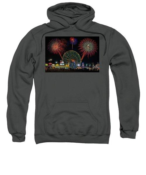 Coney Island At Night Fantasy Sweatshirt