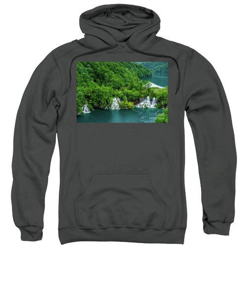 Connected By Waterfalls - Plitvice Lakes National Park, Croatia Sweatshirt