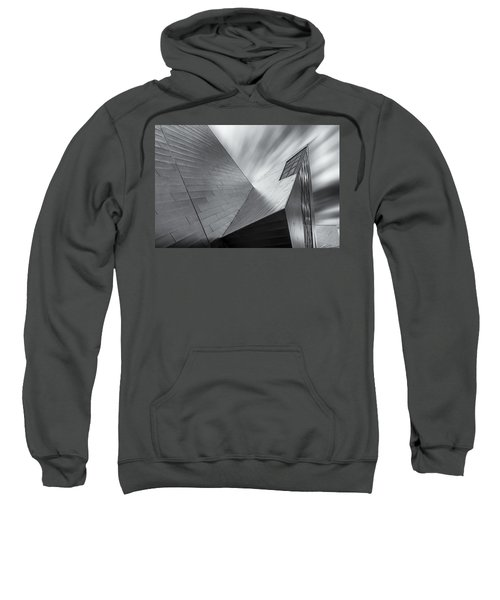 Sweatshirt featuring the photograph Contemporary Architecture Of The Shops At Crystals, Aria, Las Ve by Adam Romanowicz