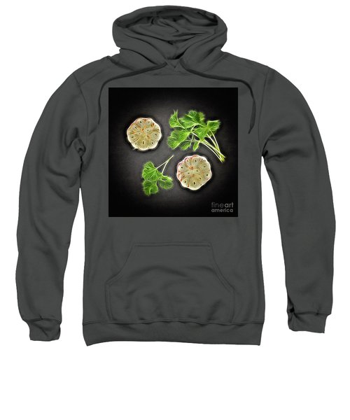 Coriander And Garlic Still Life. Sweatshirt