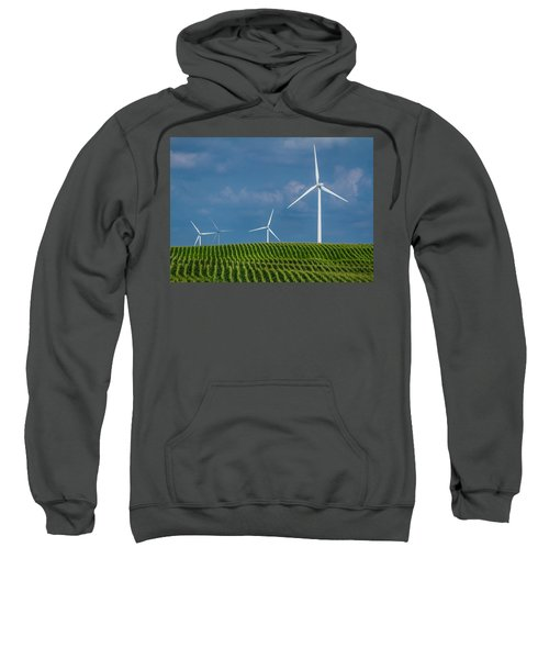 Corn Rows And Windmills Sweatshirt