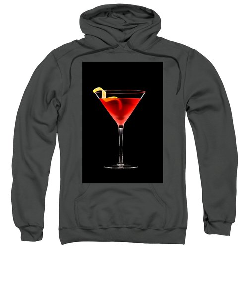 Cosmopolitan Cocktail In Front Of A Black Background  Sweatshirt
