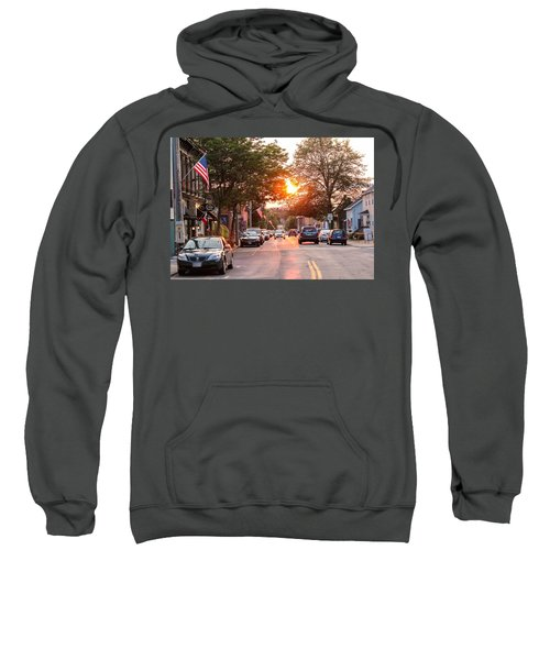 Cottage Street Summer Sunset Sweatshirt