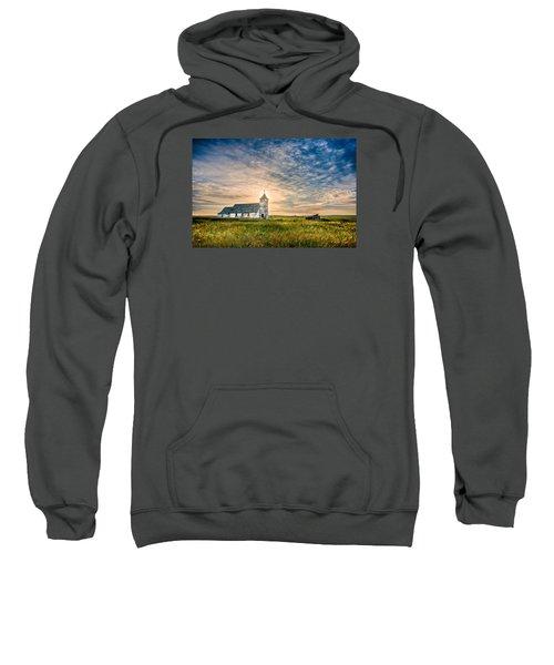 Country Church Sunrise Sweatshirt by Rikk Flohr