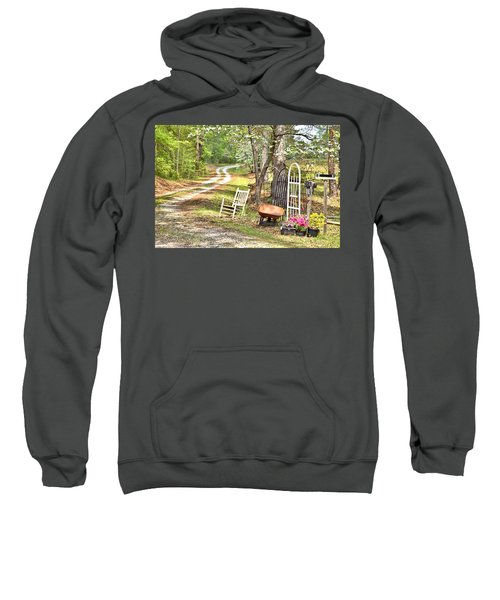 Country Driveway In Springtime Sweatshirt