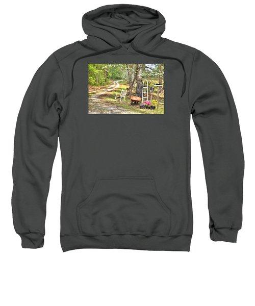 Country Driveway In Springtime Sweatshirt