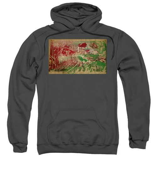 Country Home With Cottage Sweatshirt