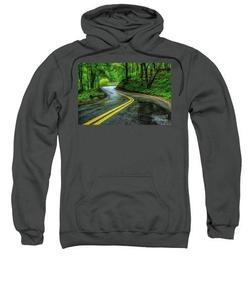 Country Road In Spring Rain Sweatshirt