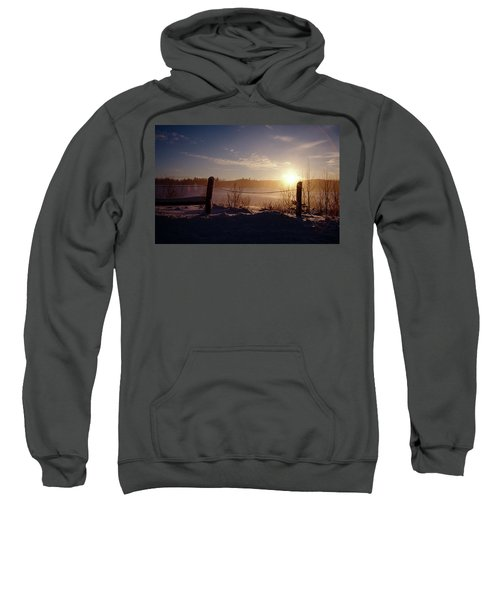 Country Winter Sunset Sweatshirt