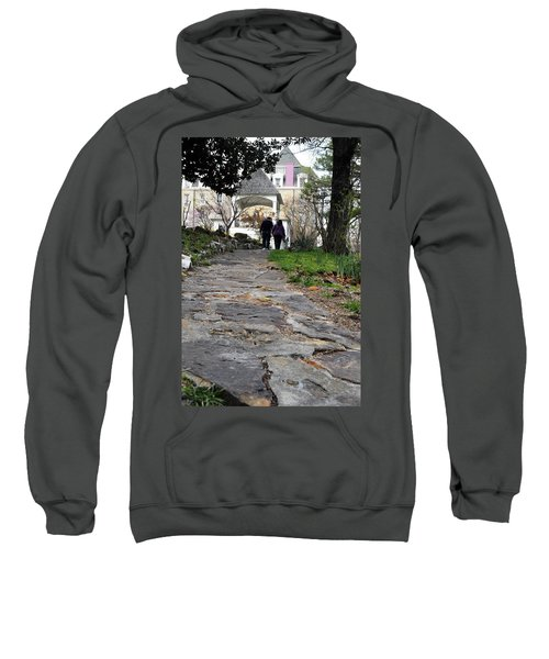 Couple On A Garden Path Sweatshirt
