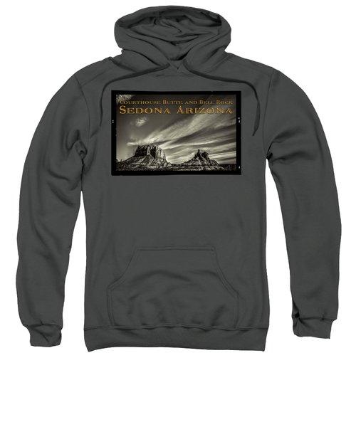 Courthouse Butte And Bell Rock Sedona Arizona Sweatshirt