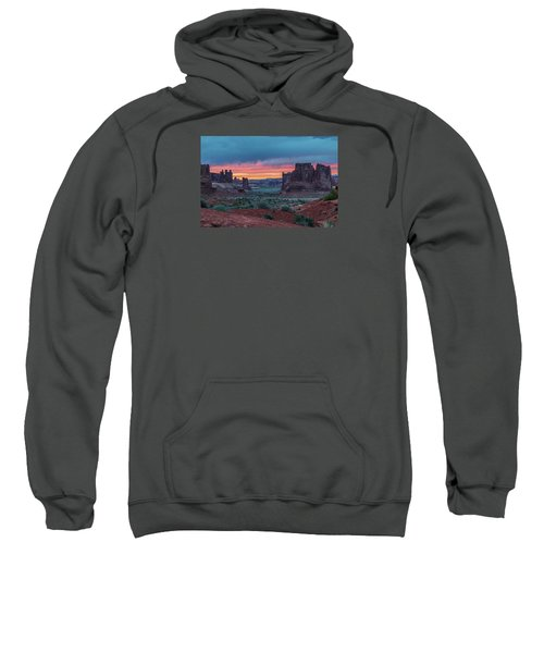 Courthouse Towers Arches National Park Sweatshirt