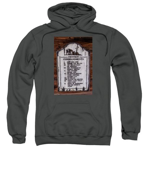 Cowboy Commandments Sweatshirt