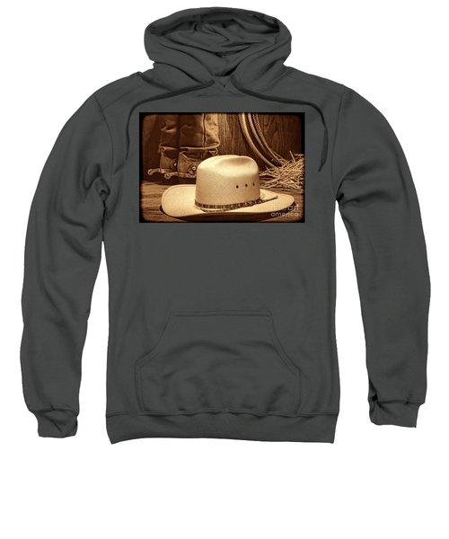 Cowboy Hat With Western Boots Sweatshirt
