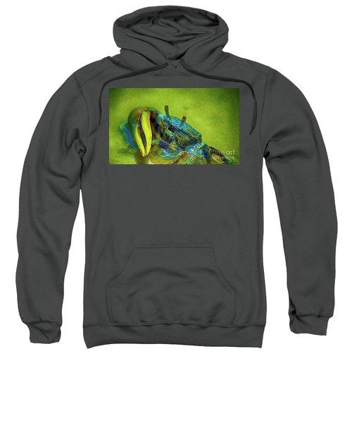 Sweatshirt featuring the digital art Crab Cakez 2 by Kim Pate
