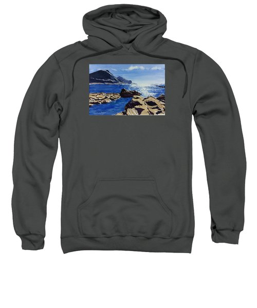 Sweatshirt featuring the painting Crackington Haven Sparkle by Lawrence Dyer