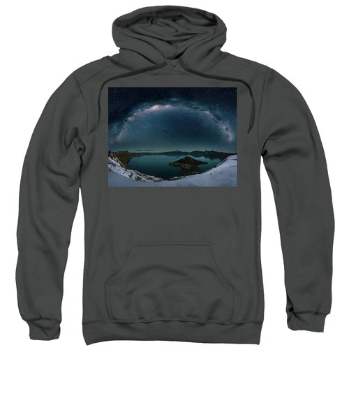 Crater Lake With Milkyway Sweatshirt