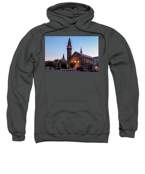 Crescent Moon Over Old Town Hall Sweatshirt