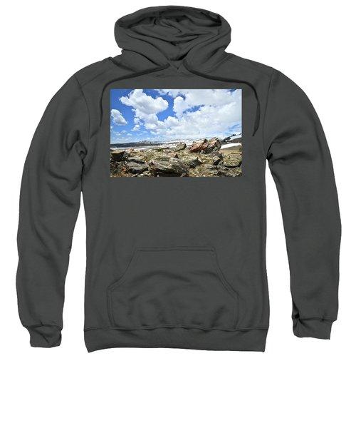 Crest Of Big Horn Pass In Wyoming Sweatshirt