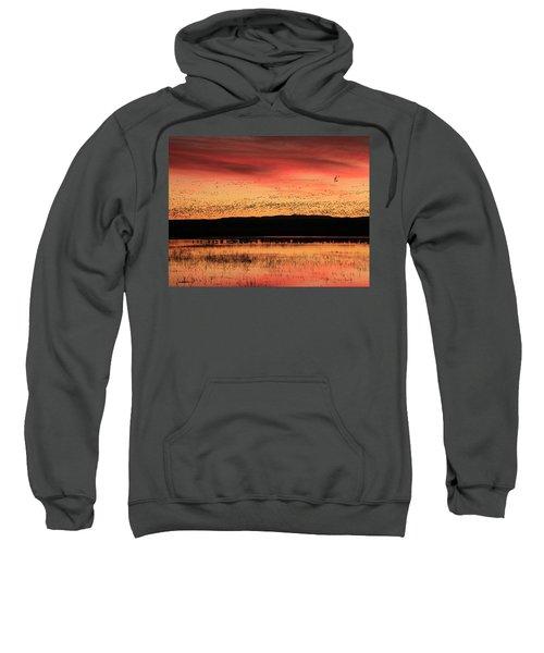Crimson Sunset At Bosque Sweatshirt
