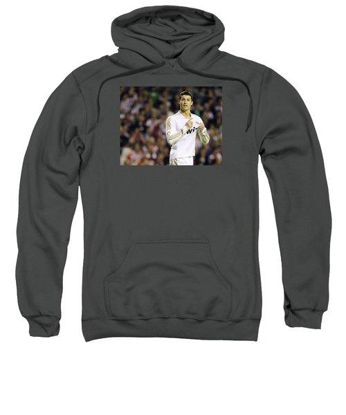 Cristiano Ronaldo 4 Sweatshirt by Rafa Rivas