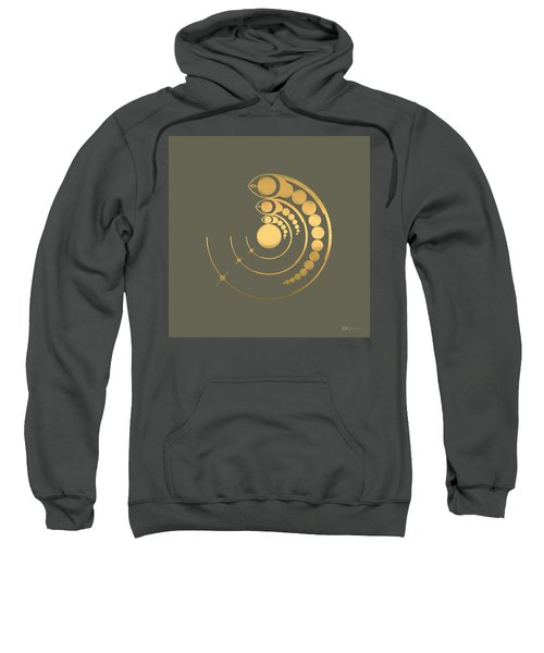 Crop Circle Formation Near Avebury  Sweatshirt by Serge Averbukh