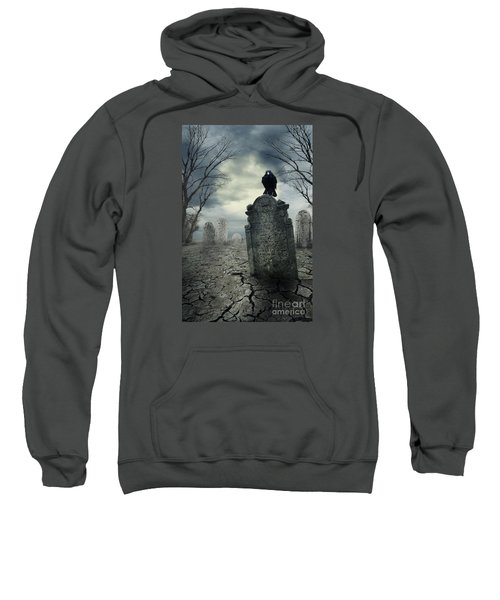 Crow On The Tombstone Sweatshirt