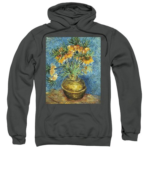 Crown Imperial Fritillaries In A Copper Vase Sweatshirt