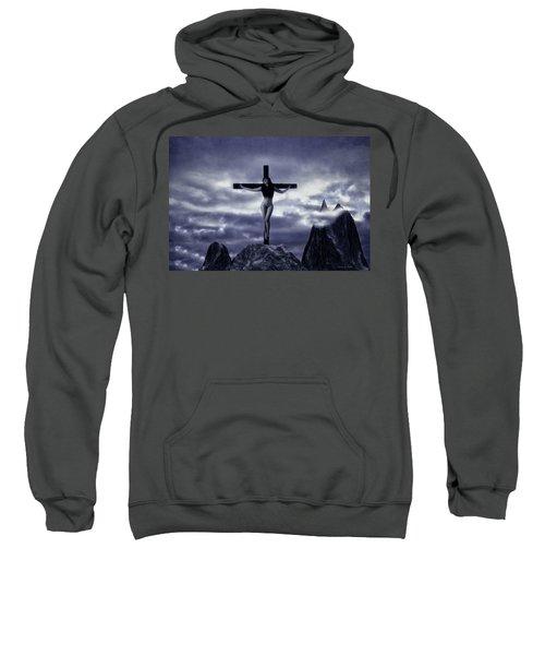 Crucifixion On The Mountain Sweatshirt