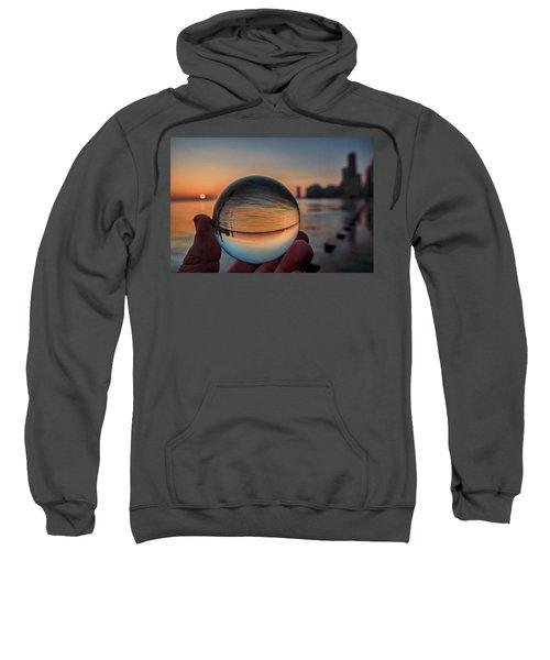 Crystal Ball On Chicago's Lakefront At Sunrise Sweatshirt