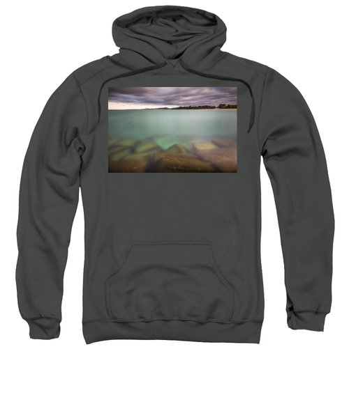 Sweatshirt featuring the photograph Crystal Clear Lake Michigan Waters by Adam Romanowicz