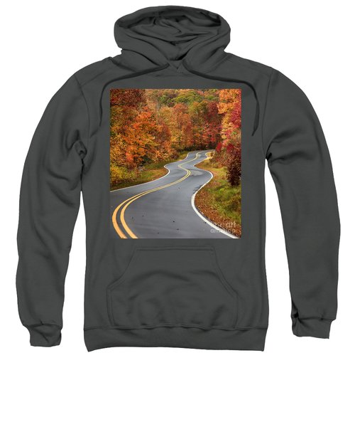Curvy Road In The Mountains Sweatshirt