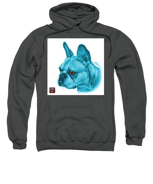 Cyan French Bulldog Pop Art - 0755 Wb Sweatshirt