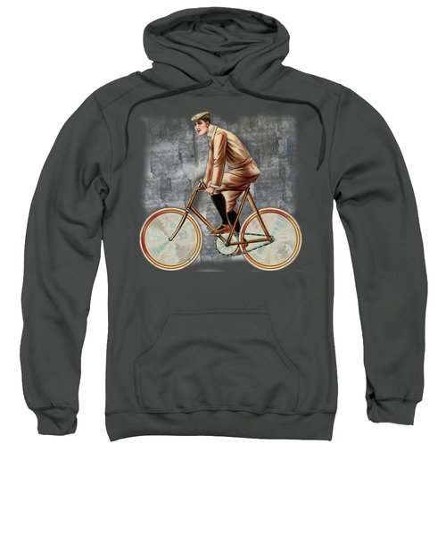 Cycling Man T Shirt Design Sweatshirt by Bellesouth Studio