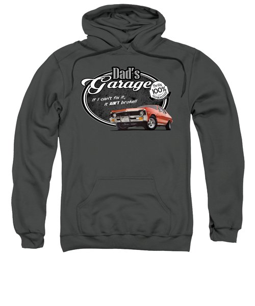 Dad's Garage With Nova Sweatshirt
