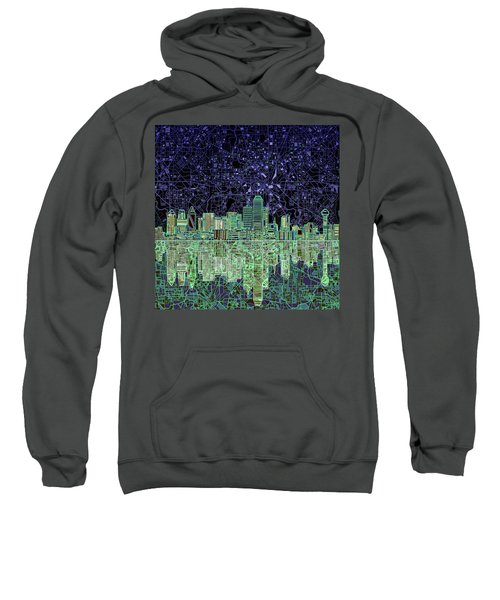 Dallas Skyline Abstract 4 Sweatshirt