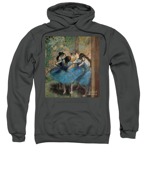 Dancers In Blue Sweatshirt