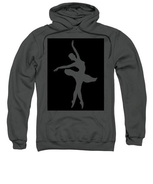 Dancing Ballerina White Silhouette Sweatshirt