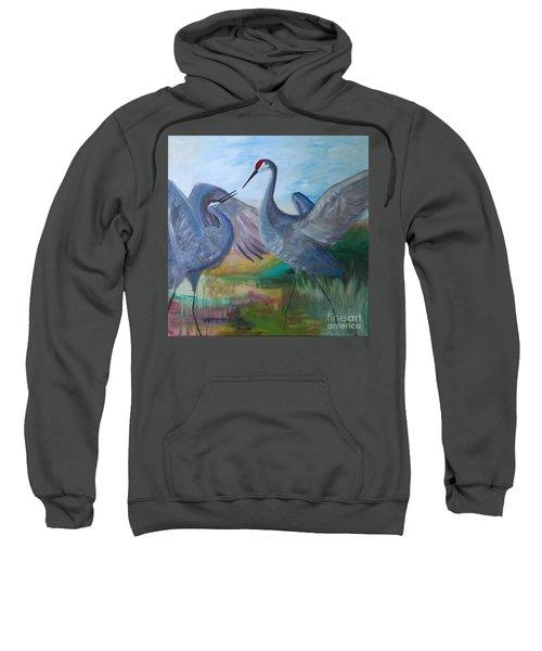 Dancing Cranes Sweatshirt