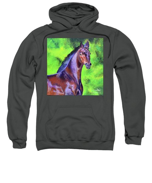Dark Red Bay Horse Sweatshirt