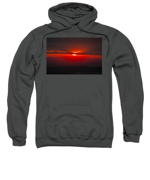 Dark Red Sun In Vogelsberg Sweatshirt