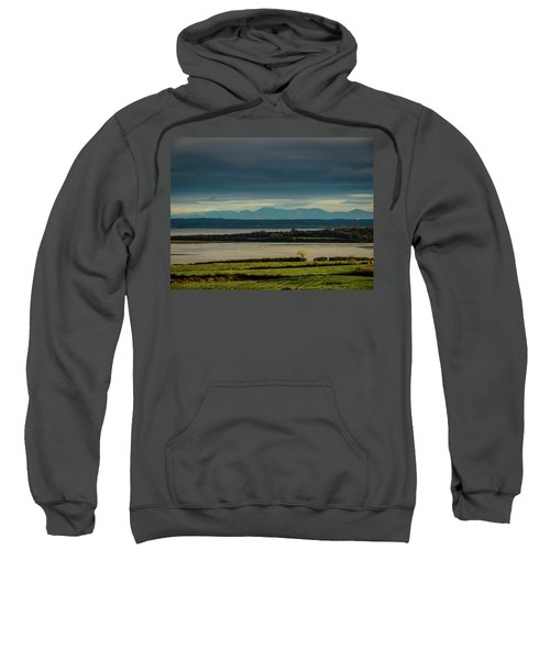 Sweatshirt featuring the photograph Dark Skies Over Ireland's Shannon Estuary by James Truett